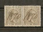 Stamps of the world : Cuba :  Alfonso XIII  (pelon)  Isla de Cuba