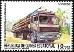 Stamps Africa - Equatorial Guinea -  20 Aniversario de la Independencia - camión transportando madera