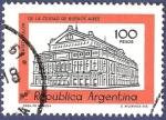 Stamps Argentina -  ARG Teatro Colón 100 naranja