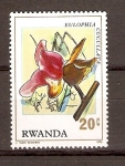 Stamps Rwanda -  EULOPHIA  CUCULLATA