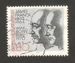 Stamps Germany -  979 - Centº del nacimiento de los físicos max born y james franck, premios nobel