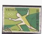 Sellos de America - Venezuela -  XIX juegos olimpicos