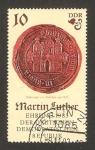 Stamps Germany -  500 anivº del nacimiento del teólogo y reformista martín luther
