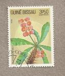 Stamps Guinea Bissau -  Planta Euphorbia milii