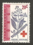 Stamps Africa - Republic of the Congo -  flora, cinchona ledgeriana