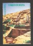 Stamps Bolivia -  templo de samaipata