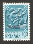 Stamps of the world : Democratic Republic of the Congo :  Katanga - Arte indígena
