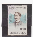 Sellos de America - Venezuela -  rufino blanco-fombona 1874-1974