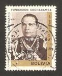 Stamps : America : Bolivia :  IV centº fundación Cochabamba, villarroel