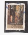 Sellos de America - Venezuela -  50 aniversario- cueva de Guacharo