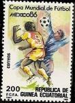 Stamps Equatorial Guinea -  Copa Mundial de Fútbol - México 86