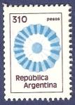 Stamps Argentina -  ARG Escarapela 310