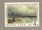 Sellos de Europa - Rusia -  Barcos en la tempestad