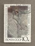 Stamps Russia -  Dama de blanco