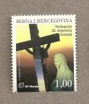 Stamps Bosnia Herzegovina -  25 Aniv de la aparición de la Virgen