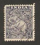 Stamps : Asia : India :  7 - elefante de ajanta