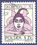 Sellos del Mundo : Europa : Polonia :  POLONIA Scorpion 1