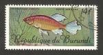 Stamps Africa - Burundi -  fauna, phenacogrammus interruptus