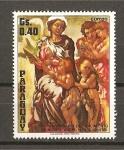 Sellos de America - Paraguay -  Obras de Miguel Angel.