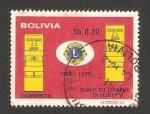 Stamps Bolivia -  25 años del leonismo en Bolivia
