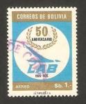 Stamps Bolivia -  50 anivº de LAB, lineas aéreas