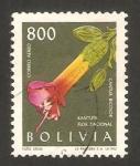 Stamps Bolivia -  flor nacional, cantua bicolor