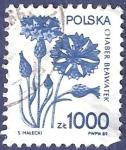 Sellos de Europa - Polonia -  POLONIA Flor azul 1000