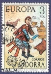 Stamps Andorra -  ANDORRA Pintura románica CEPT 3
