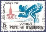 Sellos de Europa - Andorra -  ANDORRA Moscú 1980 5 (1)