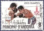 Sellos de Europa - Andorra -  ANDORRA Moscú 1980 8 (1)