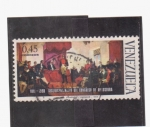 Stamps Venezuela -  sesquicentenario congreso de angostura