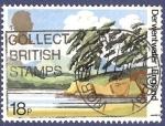 Stamps United Kingdom -  UK Derwentwater England 18 esp. matasellos
