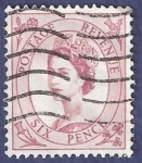 Sellos del Mundo : Europa : Reino_Unido : UK Six pence Postage Revenue 6