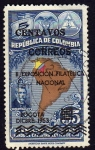 Stamps Colombia -  ll Exposic. Filatelica Nacional