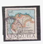 Stamps America - Venezuela -  150º aniv.  creación gran colombia