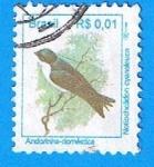 Sellos de America - Brasil -  Andarinha domestica