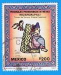 Stamps : America : Mexico :  Personajes Prehispanicos de Mexico (Nezahualpilli )