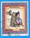 Sellos del Mundo : America : México : Personajes Prehispanicos de Mexico (Nezahualpilli )