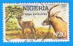 Stamps Africa - Nigeria -  Roan Antelopes