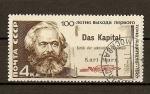 Sellos de Europa - Rusia -  Centenario de la edicion del libro Das Kapital,de Karl Marx
