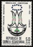 Stamps Africa - Equatorial Guinea -  I Centº Fundación Misioneras Inmaculada Concepción - Insignia