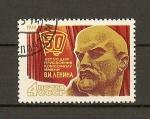 Sellos de Europa - Rusia -  50 aniversario de la fecha de la atribucion al Komsomol del nombre de V.I.Lenin