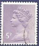 Stamps United Kingdom -  UK QEII 5
