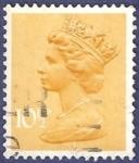 Sellos de Europa - Reino Unido -  UK QEII 10,50 amarillo