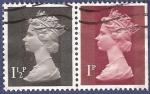 Stamps United Kingdom -  UK QEII pareja 1,50/1 (2)