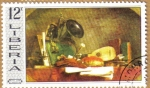 Sellos de Africa - Liberia -  Chardin-Still Life