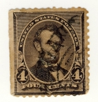 Stamps America - United States -  Presidentes Lincoln Ed 1890