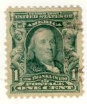 Sellos del Mundo : America : Estados_Unidos : Presidente Frankil USA 1890-1894