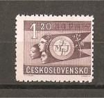 Stamps Czechoslovakia -  Festiv. de la Federacion Mundial de las Juventudes Democraticas - Praga.