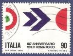 Sellos de Europa - Italia -  ITA Volo Roma-Tokio 90